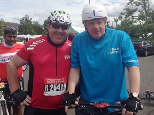 Meeting London Mayor Boris Johnson on route