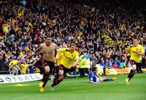 Watford FC celebrate victory. Picture: Press Association