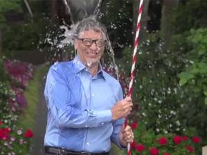 Billionaire Bill Gates getting a dunking.