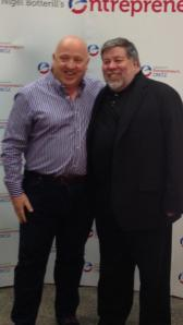 Nik meeting Steve Wozniak at the National Entrepreneur Convention.