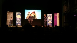 Adam Walker (on left) sharing the stage with Mike Cole MD of Imagine Property Group.